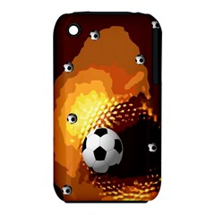 Soccer Apple Iphone 3g/3gs Hardshell Case (pc+silicone)