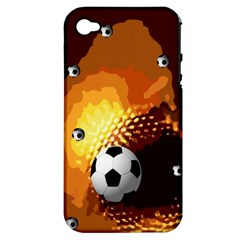 Soccer Apple iPhone 4/4S Hardshell Case (PC+Silicone)