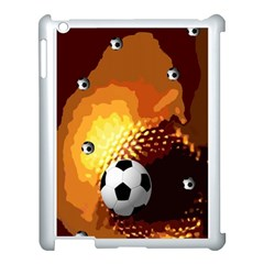 Soccer Apple iPad 3/4 Case (White)