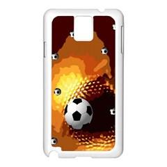Soccer Samsung Galaxy Note 3 N9005 Case (white)