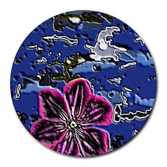 Flooded Flower 8  Mouse Pad (Round)