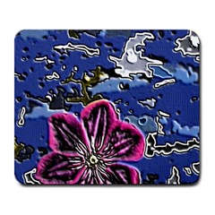 Flooded Flower Large Mouse Pad (Rectangle)