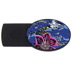 Flooded Flower 2GB USB Flash Drive (Oval)