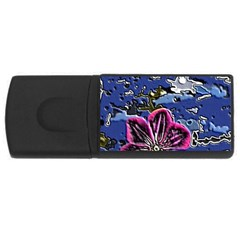 Flooded Flower 2GB USB Flash Drive (Rectangle)