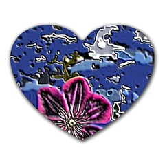 Flooded Flower Mouse Pad (Heart)