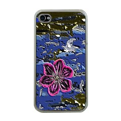 Flooded Flower Apple Iphone 4 Case (clear)