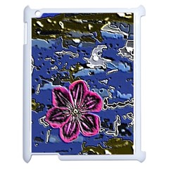 Flooded Flower Apple iPad 2 Case (White)