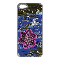 Flooded Flower Apple iPhone 5 Case (Silver)