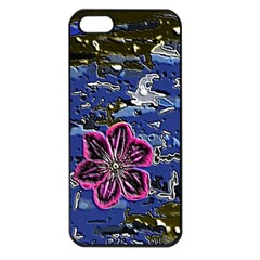 Flooded Flower Apple Iphone 5 Seamless Case (black)