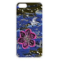 Flooded Flower Apple iPhone 5 Seamless Case (White)