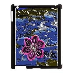 Flooded Flower Apple iPad 3/4 Case (Black)