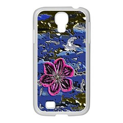 Flooded Flower Samsung GALAXY S4 I9500/ I9505 Case (White)