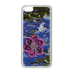 Flooded Flower Apple iPhone 5C Seamless Case (White)