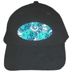 Teal Sea Forest, Abstract Underwater Ocean Black Baseball Cap