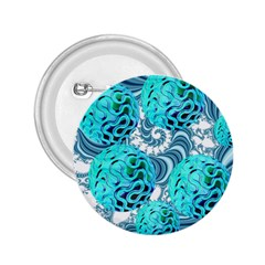 Teal Sea Forest, Abstract Underwater Ocean 2 25  Button