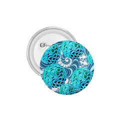 Teal Sea Forest, Abstract Underwater Ocean 1.75  Button