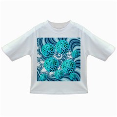 Teal Sea Forest, Abstract Underwater Ocean Baby T Shirt