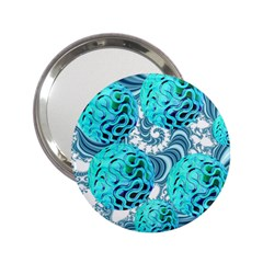 Teal Sea Forest, Abstract Underwater Ocean Handbag Mirror (2.25 )
