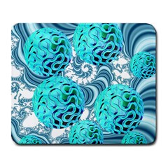 Teal Sea Forest, Abstract Underwater Ocean Large Mouse Pad (rectangle)