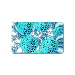 Teal Sea Forest, Abstract Underwater Ocean Magnet (name Card)