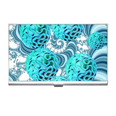 Teal Sea Forest, Abstract Underwater Ocean Business Card Holder