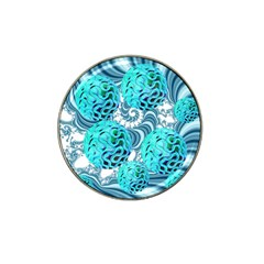 Teal Sea Forest, Abstract Underwater Ocean Golf Ball Marker (for Hat Clip)