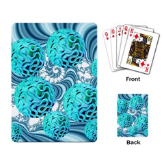 Teal Sea Forest, Abstract Underwater Ocean Playing Cards Single Design