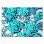 Teal Sea Forest, Abstract Underwater Ocean Glasses Cloth (Large) Front