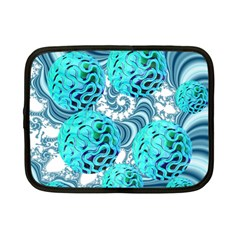 Teal Sea Forest, Abstract Underwater Ocean Netbook Sleeve (small)