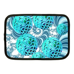 Teal Sea Forest, Abstract Underwater Ocean Netbook Sleeve (Medium)