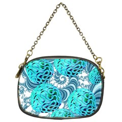 Teal Sea Forest, Abstract Underwater Ocean Chain Purse (One Side)
