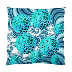 Teal Sea Forest, Abstract Underwater Ocean Cushion Case (Two Sided)