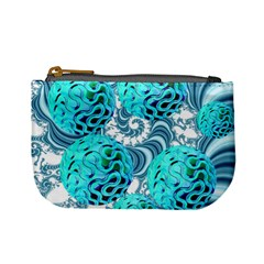 Teal Sea Forest, Abstract Underwater Ocean Coin Change Purse