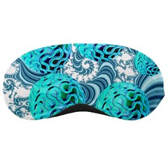 Teal Sea Forest, Abstract Underwater Ocean Sleeping Mask