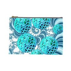 Teal Sea Forest, Abstract Underwater Ocean Cosmetic Bag (large)