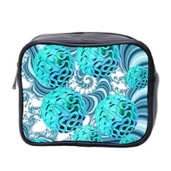 Teal Sea Forest, Abstract Underwater Ocean Mini Travel Toiletry Bag (two Sides)