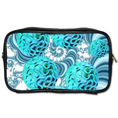 Teal Sea Forest, Abstract Underwater Ocean Travel Toiletry Bag (Two Sides)