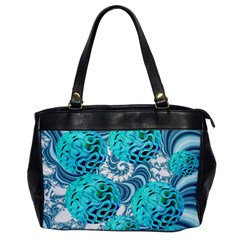 Teal Sea Forest, Abstract Underwater Ocean Oversize Office Handbag (one Side)