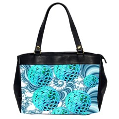 Teal Sea Forest, Abstract Underwater Ocean Oversize Office Handbag (Two Sides)