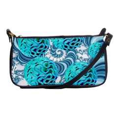 Teal Sea Forest, Abstract Underwater Ocean Evening Bag