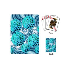 Teal Sea Forest, Abstract Underwater Ocean Playing Cards (Mini)
