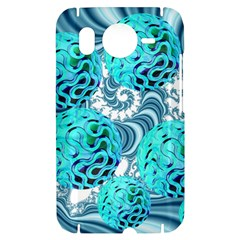 Teal Sea Forest, Abstract Underwater Ocean HTC Desire HD Hardshell Case