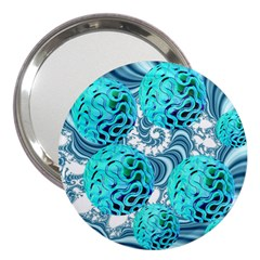 Teal Sea Forest, Abstract Underwater Ocean 3  Handbag Mirror
