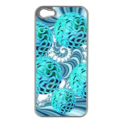 Teal Sea Forest, Abstract Underwater Ocean Apple iPhone 5 Case (Silver)