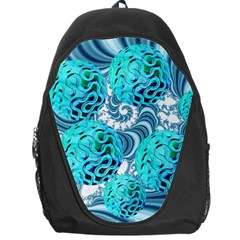 Teal Sea Forest, Abstract Underwater Ocean Backpack Bag