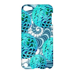 Teal Sea Forest, Abstract Underwater Ocean Apple iPod Touch 5 Hardshell Case