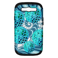 Teal Sea Forest, Abstract Underwater Ocean Samsung Galaxy S III Hardshell Case (PC+Silicone)