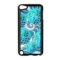 Teal Sea Forest, Abstract Underwater Ocean Apple Ipod Touch 5 Case (black)