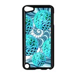 Teal Sea Forest, Abstract Underwater Ocean Apple iPod Touch 5 Case (Black) Front