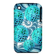 Teal Sea Forest, Abstract Underwater Ocean Apple iPhone 3G/3GS Hardshell Case (PC+Silicone)